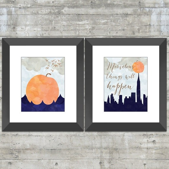 James and the Giant Peach 8x10 Children's Wall Art, Book Nursery Art or Playroom Art Print Set