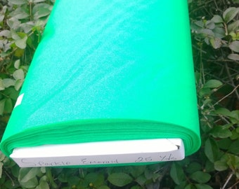 "Sparkle Organza Fabric - Emerald, 45"" x 1 Yard"