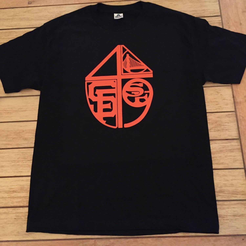 Custom orange san francisco bay area sports team by shirtsavvy for Bay area custom shirts