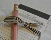 Set of 4 Vintage Mini Notepads with Pencil