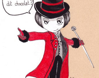 Ana Dess in Willy Wonka - Illustration (ON COMMAND)