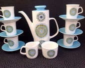 J&G Meakin Aztec coffee set compleat and never used 1968 design.