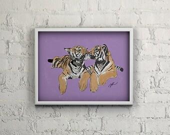 Tiger Kisses *INSTANT DOWNLOAD*