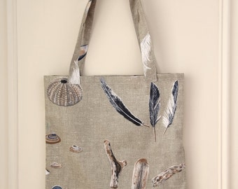 Tote bag - seashells and crustaceans 2 - DOLCE EUPHORIA