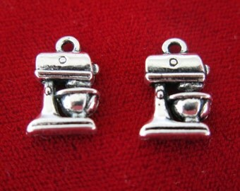 "10pc ""mixer"" charms in antique style silver (BC463)"