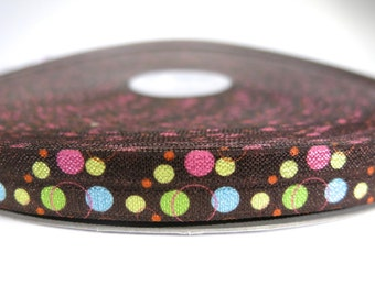 "3 yards of FOE 5/8 inch ""dots"" fold-over elastic ribbon"