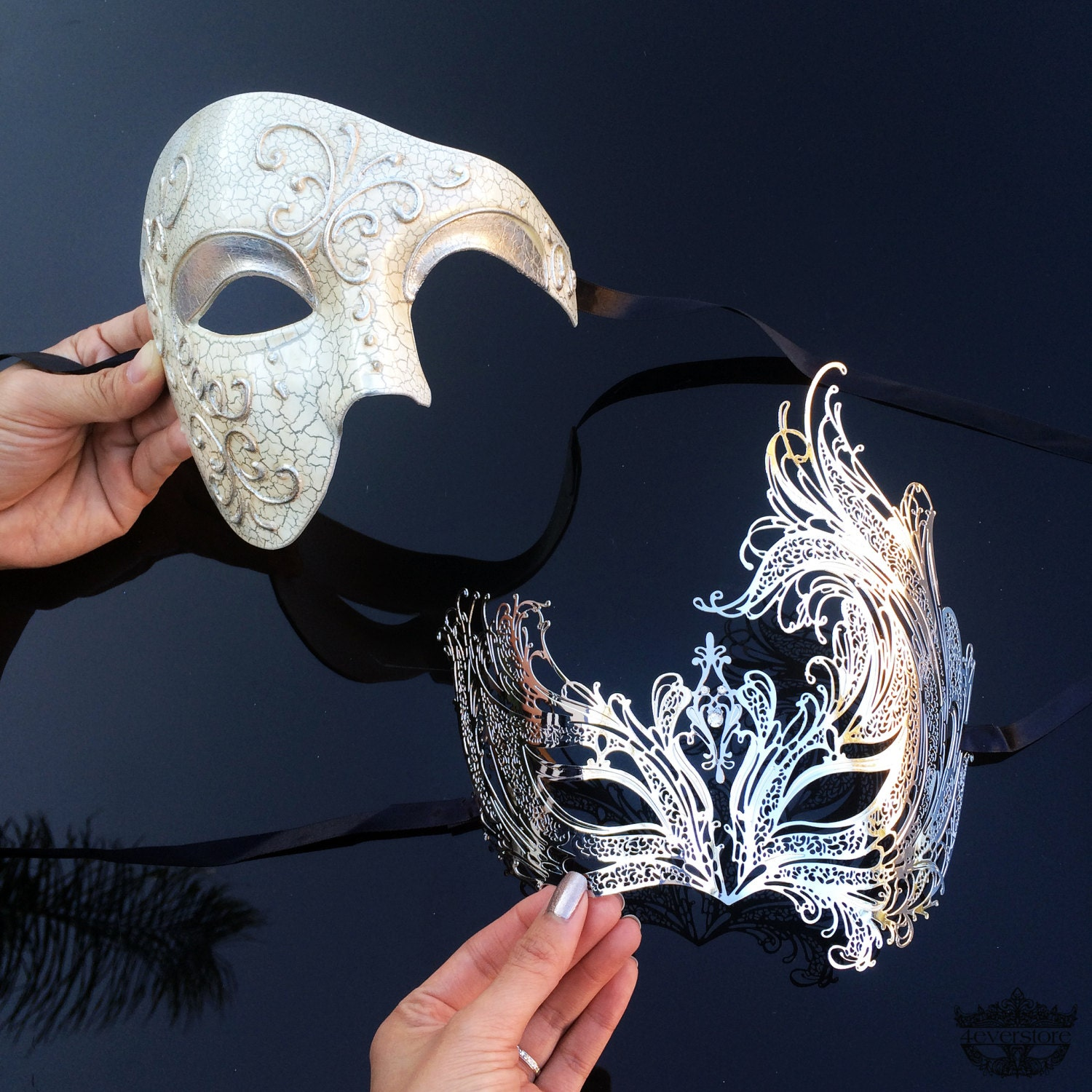 His And Hers Feminine And Masculine Bedrooms That Make A: Couples Masquerade Mask His & Hers Masquerade Mask Roman