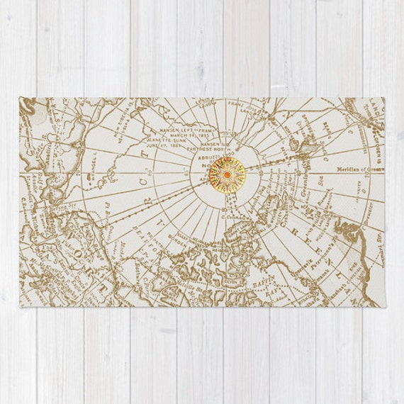 Map with compass bath mat matches quot give me direction quot shower curtain