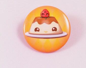 Pudding/Flan Pinback Button