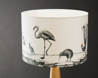 Birds Night Out - 30cm Hand Gilded Lampshade