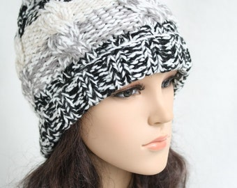 Blending knitted hat  Women Teens Accessories  Fall Winter Fashion  Chunky Beret  302977-910(23#)