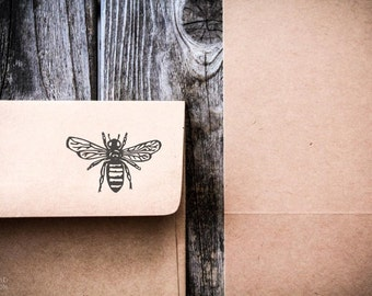 Honey Bee Rubber Stamp ( 2 x 3 Inches ) - Southern Rubber Stamp