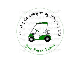 Golf Birthday Party - Mini Golf - Golf Baby Shower - Golf Party Decorations - Golf Party Circle Label for Favors