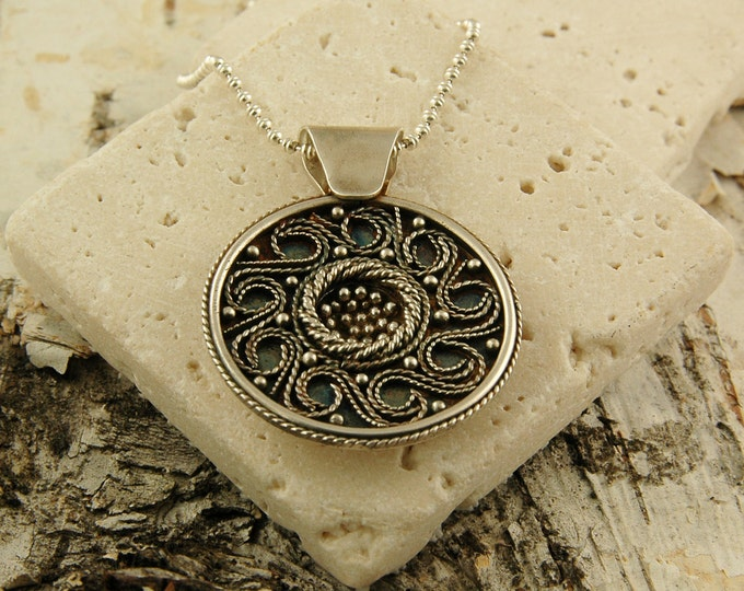 Freya's Viking Shield Necklace