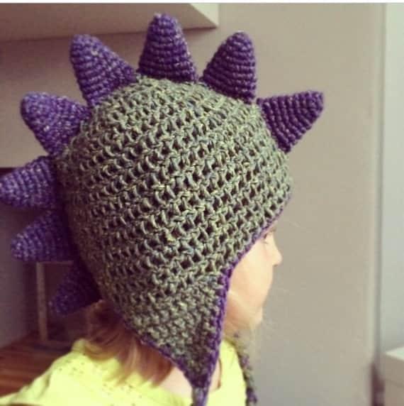 Crochet Dinosaur Spike Hat Pattern Dancox For