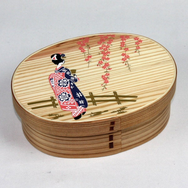 japanese bento lunch box magewappa lacquer box by japantique. Black Bedroom Furniture Sets. Home Design Ideas