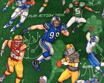One Half Yard of Fabric Material - Football Plays