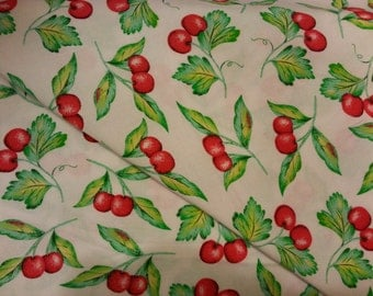 Red Cherries - Cotton Woven Fabric