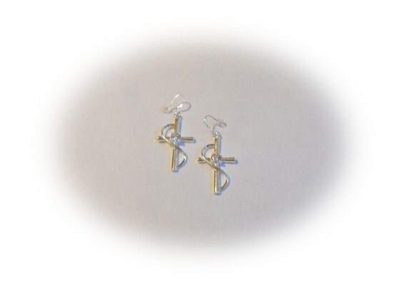 Cross Infinity Earrings, Silver Cross Earrings, Handmade Earring, Infinity Earrings, Crystal Dangle Earrings, Jewelry For Her, Gifts for Her