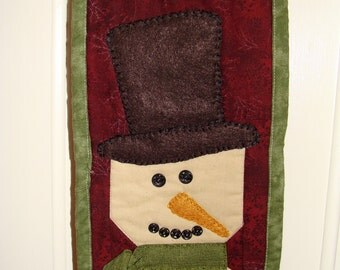 Skinny Snowman Quilted Wall Hanging