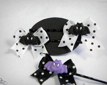 little bat hair clips