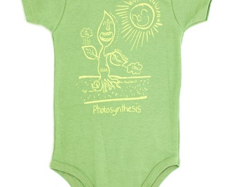 SALE!! Avocado Green Photosynthesis Babysuit | Science Onesie Biology Baby Gift Ecology Organic Eco