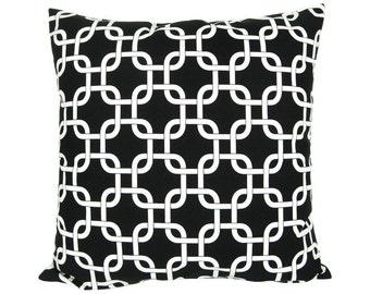 Cushion cover 50 x 50 cm Premier prints gotcha black and white zipper