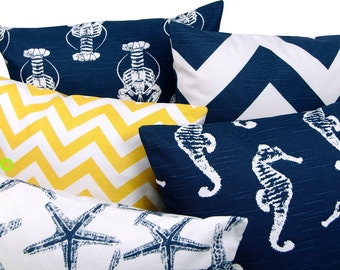1 pillowcase CHEVRON zigzag lines optic 50 x 50 cm yellow white