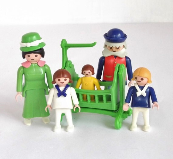 Boy Toys For Dads : Vintage playmobil family set people mom dad boy
