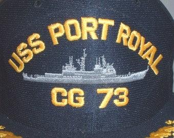US Navy USS Port Royal, CG-73 ballcap made in America!