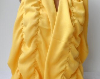 Mustard Pashmina Ruffle Scarf pashmina scarf Ruffled scarf Frilly scarf Elegance Bridesmaid gifts Mustard shawls scarfs Yellow pashmina