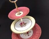 "3 Tier Stand, ""Garden Basket Tier"" for Cupcakes, jewelry, sweets, savories, soaps, keys etc."