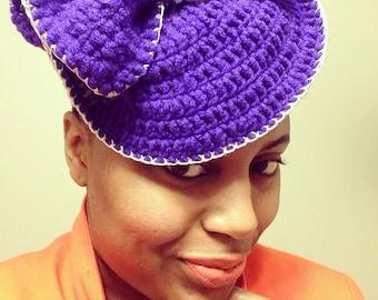 Steampunk hat crochet fascinator Victorian steam punk wedding womens HAT woman kentucky derby