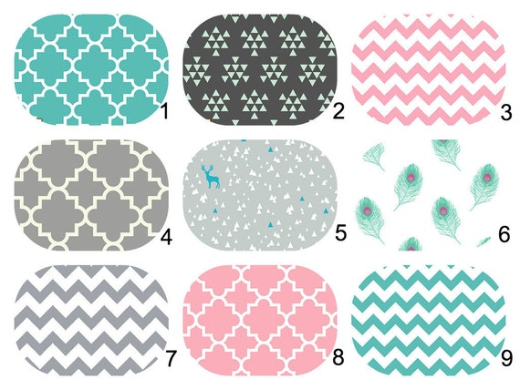 Custom Made Bassinet Mattress Jersey Knit Bedding - Bassinet, Stokke, Crib Sheet, 4moms Breeze ...