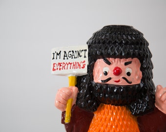 "Rare Vintage Lego Coin / Piggy Bank ""I'M AGAINST EVERYTHING"""