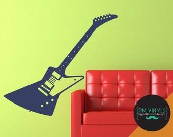 Gibson Explorer Guitar Vinyl Wall Decal - MUS007