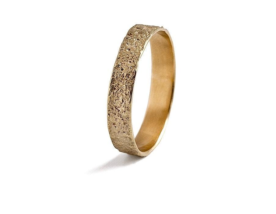 mens gold wedding band 14k solid gold mans by inbaralezraki