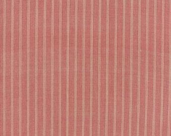 Petite Woven Silky Cotton Stripe Rouge Cream - 1/2yd
