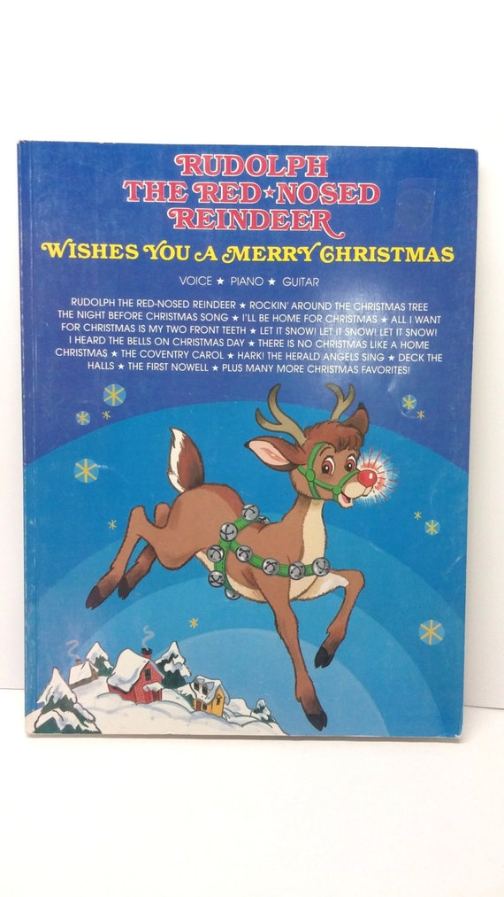 Christmas Music Book Rudolph the Red Nosed Reindeer by VintageYay