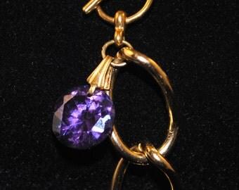 Purple Czech Crystal Bracelet