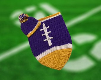 Minnesota Fan Favorite Baby Boy Football Cocoon & Hat (Newborn to 3 months)