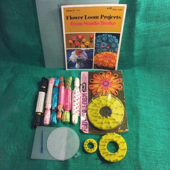 Vintage Flower Loom Kit Swistraw Book Supplies By KitschUcopia