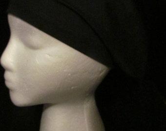 Basic Black Euro Style Surgical Scrub Hat