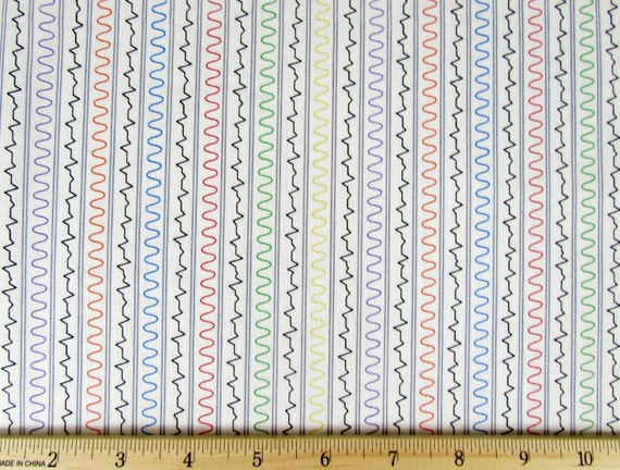 Per yard mission space waves fabric white from quilting for Space mission fabric