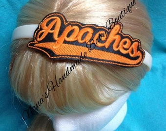 Apaches - Team Headband Slip On  - DIGITAL EMBROIDERY DESIGN