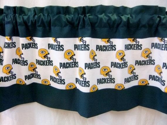 Green Bay Packers Nfl Football White Custom Valance Curtain