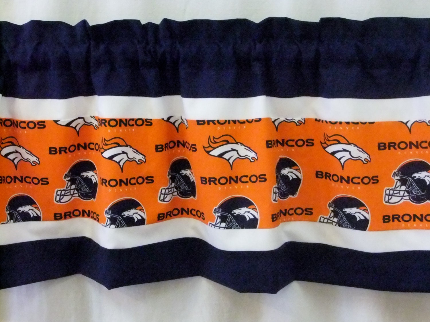 Broncos shower curtain