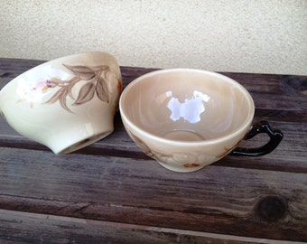 Franciscan Cafe Royal Tea Cups - Set of Two Vintage Franciscan Teas Cups - Gorgeous Pattern