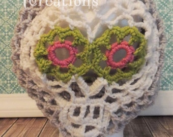 Sugar Skull Slouch Hat, Adult size