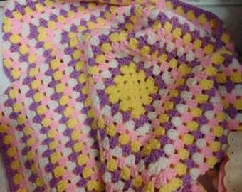 Childs Receiveing Blanket,0-1yr, Afghan,Baby Blanket, Chrochet, Hand-made